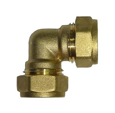 15mm Compression Elbow | Brass Plumbing Fitting For Copper Pipe