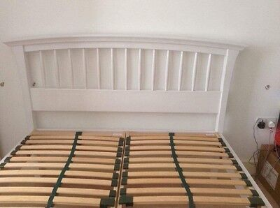 White Curved Wooden Bed frame