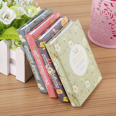 Creative Design Stationery Hardcover Notebook Diary With Colorful Sticky Notes L