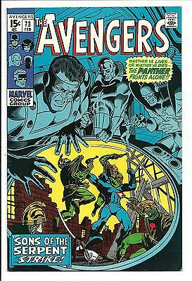 Avengers # 73 (Sons Of The Serpent, Feb 1970), Vf-