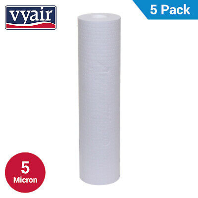 """VYAIR 10"""" PP 5 Micron Particle, Sediment, Reverse Osmosis Water Filter x 5"""
