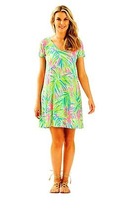 656e1aef3b903d Lilly Pulitzer NWT Jessica Short Sleeve Dress in Royal Lime Tiki Pink $98