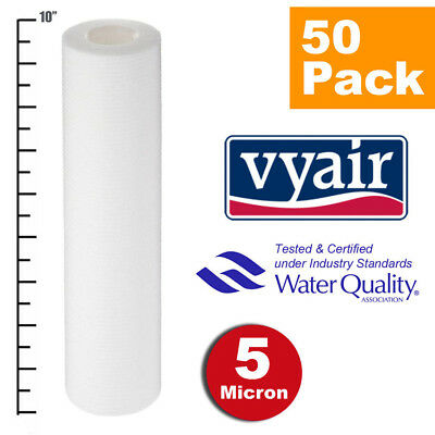 """VYAIR 10"""" PP 5 Micron Particle, Sediment, Reverse Osmosis Water Filter x 50"""