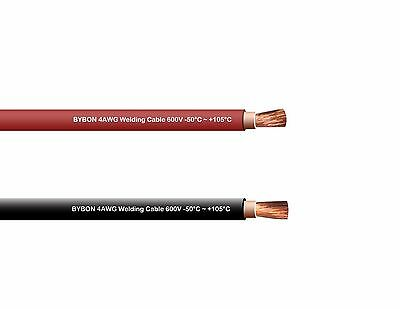 Welding Cable 4 Awg 20' Combo Pack 10' Black 10' Red 600V Copper