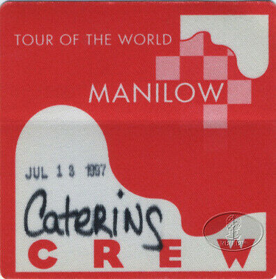 BARRY MANILOW 1997 Tour Of The World Backstage Pass