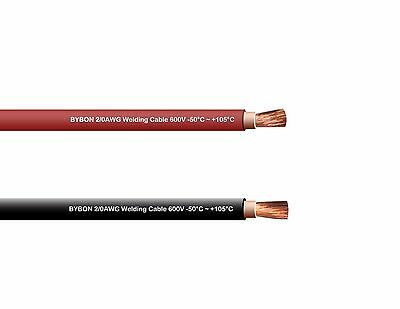 Welding Cable 2/0 Awg 50' Combo Pack 25' Black 25' Red 600V Copper