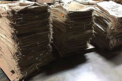 "25 Used Various Mixed Full Size Burlap Coffee Sacks Bags 47"" X  27"" Buy It Now"