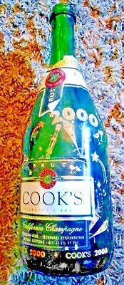 Cook's Collector's Series Champagne Bottle ~EMPTY~ YR 2000 THE NEW MILLENUIM
