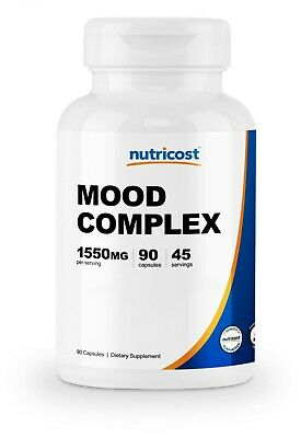 Nutricost Mood Complex 90 Capsules - With St. John's Wort - Non-GMO, Gluten Free