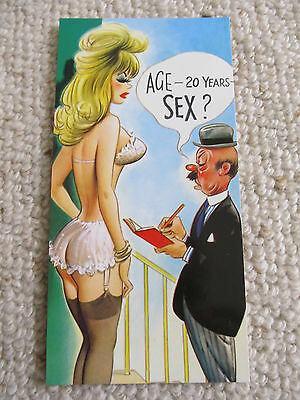 Vintage 1970's Bamforth SLIM COMIC Postcard (Scarce as new), AGE, SEX C19