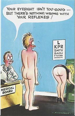 Vintage 1970's Bamforth COMIC Postcard (As new condition) Good Reflexes #272