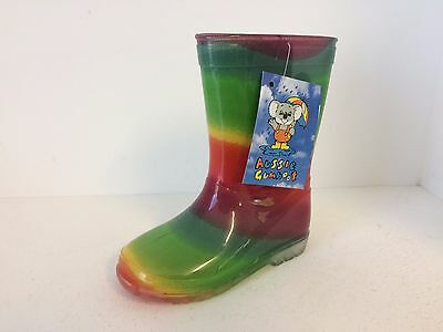 Kids Gumboots Rainbow Size 4 5 6 7 8 9 10 11 12 13 1 2 Wellies Childrens NEW