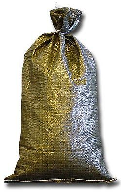 Military Sandbags Deluxe Quality - 5 Empty Heavy Duty Green Sand bag 14x26