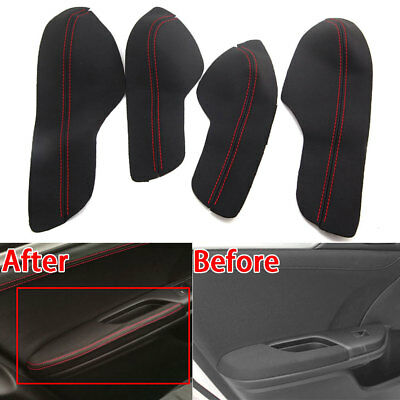 For Honda 10th Civic 16-17 Car Door Armrest PU Leather Surface Cover Shell Trim