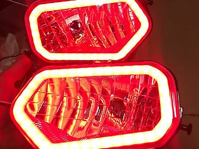 09-17 Polaris Sportsman - Red Halo Headlights 500 700 800 570 1000 550 850