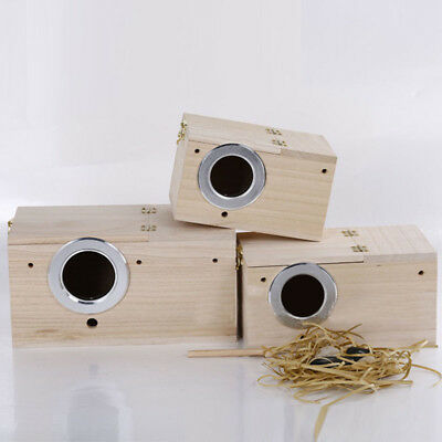 Hot Solid Wood Nest Box Nesting Boxes For Small Birds Parrot Budgies Finches