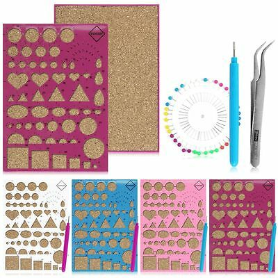 1 Set Quilling Template Tools DIY Origami Paper Kit Mould Tweezer Needles Random