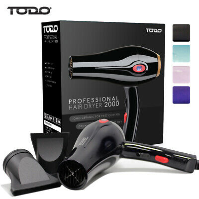 Todo 2000W Ionic Ceramic Anti Frizz Hair Dryer Digital Temperature Lcd