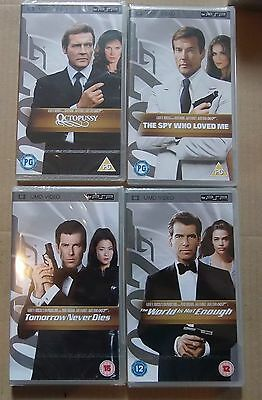4 x 007 James Bond Movies (New & Sealed)(Sony PSP UMD Video) Free Postage