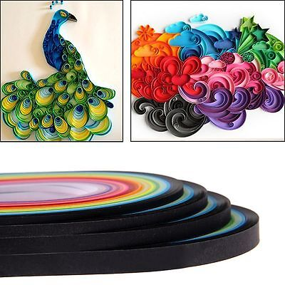 520 Stripe 26 Color Quilling Paper Origami 3/5/7/10mm Width DIY Craft Decor AU