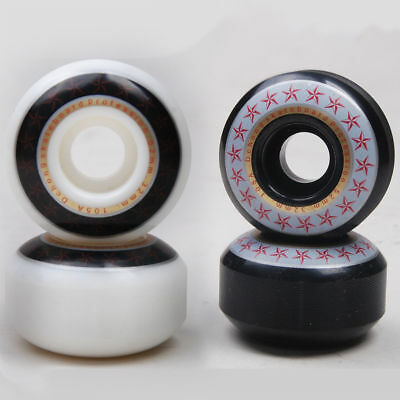 White Black PU Skateboard Parts Car Line Wheels  52*32mm For Your Needs