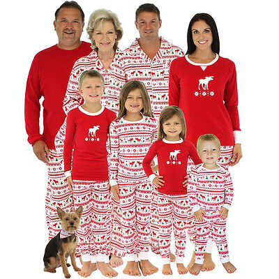 US Stock Family Matching Christmas Pajamas Set Baby Kids Sleepwear Nightwear