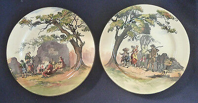 TWO Vintage Royal Doulton Cabinet 26 cm Plate Series Ware