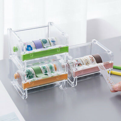 Washi Tape Dispenser Tape Cutter Roll Tape Holder Storage Desktop Box