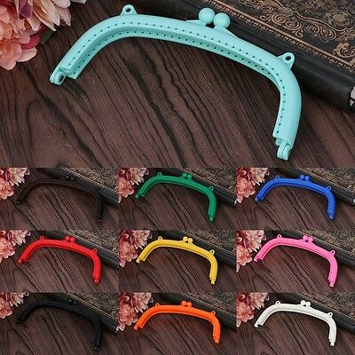 Candy Color Plastic Frame Kiss Clasp Arch for Purse Bag Ball Snap Lock DIY Craft