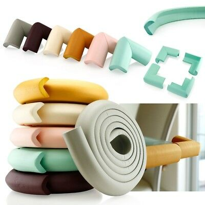2x 2M Rubber Foam Desk Table Corner Edge Strip Cushion Child Safety Protector