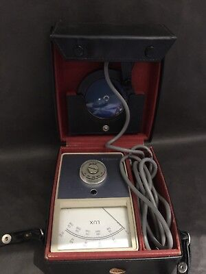 Vintage Mini Lux Light Meter Light Measurement Made in England in 1977 UNTESTED