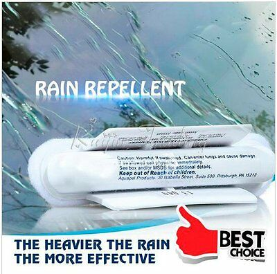 New Windshield Glass Water Rain Repellent Treatment Application Repels Cleaner