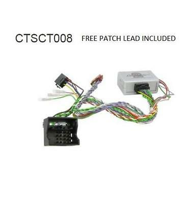CTSCT008 Steering Stalk Car Radio and Reverse Adaptor: Citroen C8 05 onwards