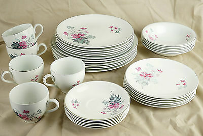 Vintage Burleigh Ware, Burgess & Leigh English China - 35 Piece Dinner Set