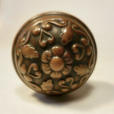 Antique Victorian Decorative Bronze/brass Door Knob Set