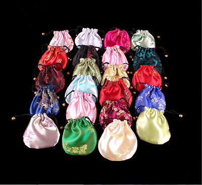 500PCS MulticOlored Multi-Pattern Brocade Gift Bag