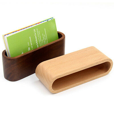 Beech wood Wooden Business Card Holder Single Compartment Name Card Holder