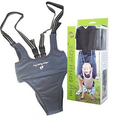 Little Dundi My Early Steps Learn to Walk Harness, Grey, One Size Safety Tested