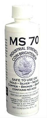 MS 70 COIN BRIGHTENER FOR SILVER GOLD NICKEL COPPER 8oz Cleaner