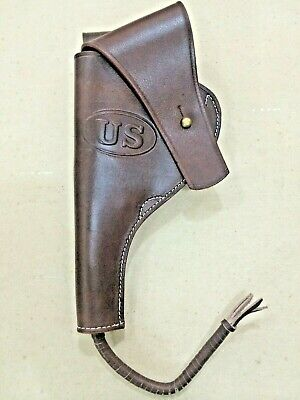 US WWI M1917 .45cal Revolver Leather Holster - BUTT FORWARD (Left Hand)