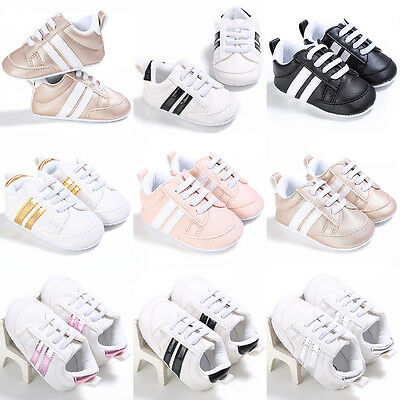 Infant Toddler Sport Sneaker Baby Boy Girl Crib Soft Shoes Newborn To 18 Months
