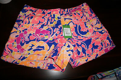 Lilly Pulitzer NWT Ocean View Boardshort in Brilliant Blue Catch and Release $54