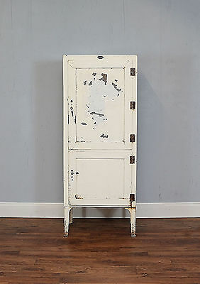 Tall Vintage Metal Apothecary Cabinet, Bathroom, Surgical, Medical, Lockable