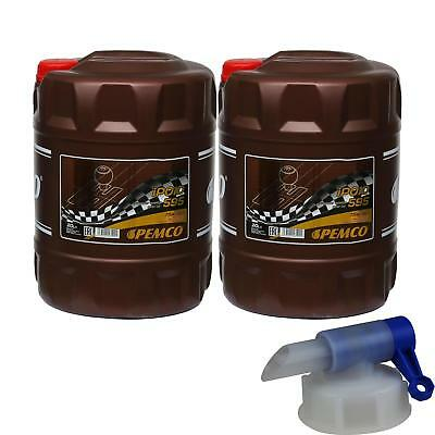 2X 20 Litre Pemco Transmission Oil ipoid 595 75W-90 Gear incl. Drain Cock
