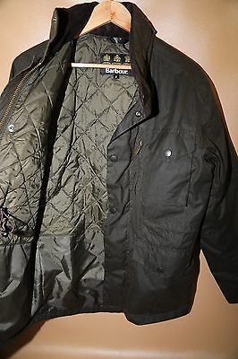 Barbour Sapper Waxed Cotton Jacket Size Small  OLIVE GREEN