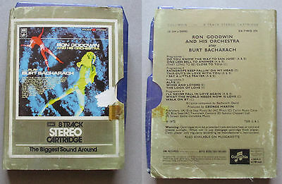Rob Goodwin his orchestra play burt bacharach  sealed  8 track cartridge