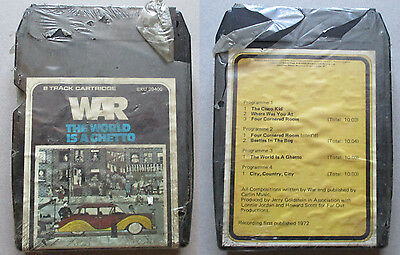 War The World is a ghetto, 8 Track Cartridge, Rare Sealed,