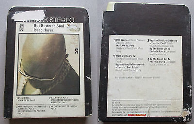 Isaac Hayes Hot Buttered Soul,  8 Track Cartridge, outer case tatty