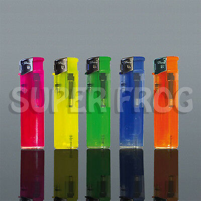 5x Lighter Set Refillable Cigarette Gas Lighter Disposable Adjustable Flame Fire