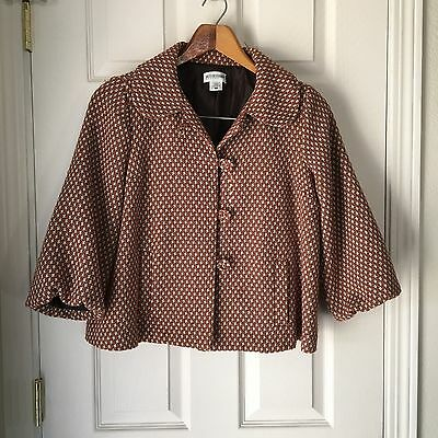Motherhood Maternity Jacket Orange Brown Size S Bell Sleeves